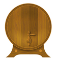 Ancient oak barrel vector image
