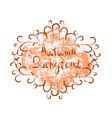 autumn background orange paint splash on white vector image