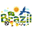 Brazil design with objects on white background vector image