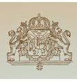 Detailed Vintage Royalty Emblem vector image
