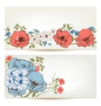 Floral banners Flowers and leaves header set vector image