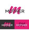 mother logo letter m logo logo template vector image