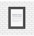 Photo frame brick wall vector image