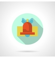 Red handbell round flat icon vector image