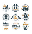 shoe shop vintage logo design set premium vector image