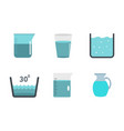 water vessel icon set flat style vector image