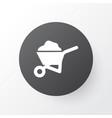 wheelbarrow icon symbol premium quality isolated vector image
