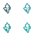 Set of paper stickers on white background bunches vector image
