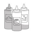 sauce bottle fast food related icon image icon vector image