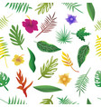 floral and leaves of summer natural seamless vector image