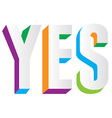 Yes Text vector image vector image