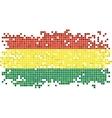 Bolivian grunge tile flag vector image vector image