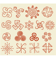 Ethnic tribal native sun symbol vector image vector image