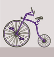 antique bike vector image