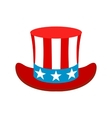 Hat in the USA flag colors icon vector image