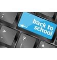 Back to school key on computer keyboard Keyboard vector image