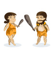 ancient people on white background vector image