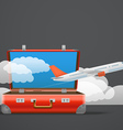 Flying aircraft Vacation concept vector image