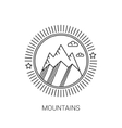 Line mountain and travel design logos and icons vector image