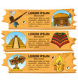 set banners on attributes of the american indians vector image
