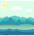 Blue and green morning landscape vector image