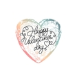 hand drawn ombre heart vector image