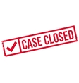 Case Closed rubber stamp vector image
