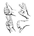 Set of Symbol Hands vector image vector image