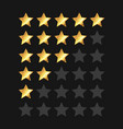 golden stars rating panel set vector image