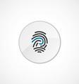 fingerprint icon 2 colored vector image