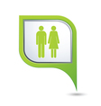 women AND man GREEN pointer vector image vector image