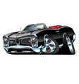 American Classic Muscle Car Cartoon vector image