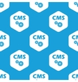 CMS settings hexagon pattern vector image