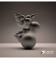 3d abstract spheres composition vector image
