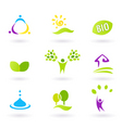 nature ecology bio icons vector image vector image