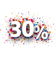 30 sale sign vector image