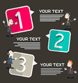 Infographics Template with Men - Businessmen vector image