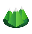 Mountain 3d isometric icon vector image