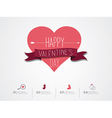 Valentines Day Infographic vector image