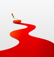 red paint and roller vector image vector image