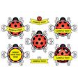 ladybug logos vector image vector image