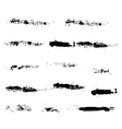Dirty strokes ink texture brush black watercolor vector image