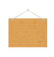 wooden notice board vector image vector image