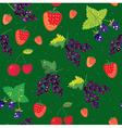 Berries seamless pattern - strawbery blackberry vector image