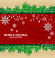 christmas and new year concept vector image