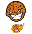 crazy basketball ball vector image