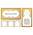 Eastern set gold line frames for design template vector image