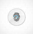 fingerprint icon 2 colored vector image