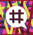 hashtag trending post concept vector image