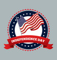 independence day emblem image vector image